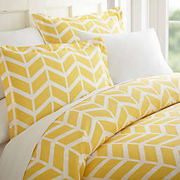 Arrow Twin/Twin XL Duvet Cover Set in Yellow