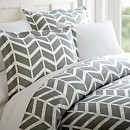 Arrow Twin/Twin XL Duvet Cover Set in Grey