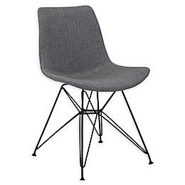 Armen Living® Linen Upholstered Palmetto Chair