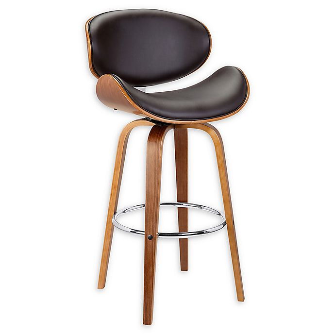 Awe Inspiring Armen Living Solvang Bar Stool In Brown Bed Bath Beyond Squirreltailoven Fun Painted Chair Ideas Images Squirreltailovenorg