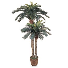 Nearly Natural 6-Foot Sago Palm Double Potted Silk Trees