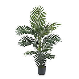 Nearly Natural Kentia Palm 4-Foot Silk Tree with 9 Fronds