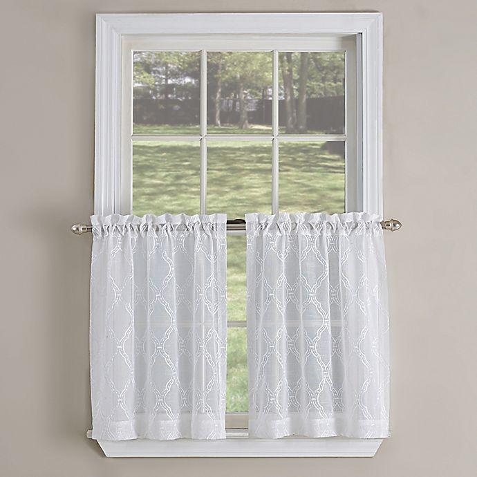 Kensington Kitchen: Kensington Ogee Kitchen Window Curtain Tier Pair
