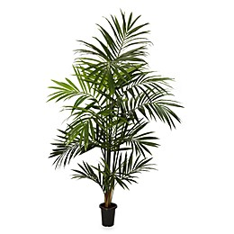 Nearly Natural 7-Foot Kentia Palm Silk Tree with 13 Fronds