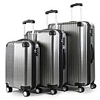 American Green Travel Melrose 3-Piece Luggage Set in Silver