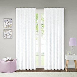 Lizzie Dot 100% Blackout Rod Pocket Window Curtain Panel