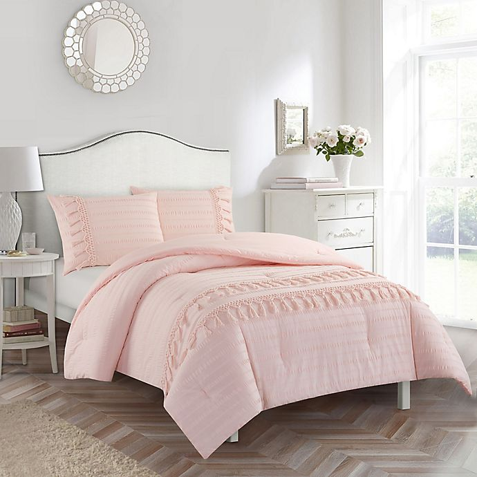 Alternate image 1 for American Kids Ava Full Comforter Set in Pink