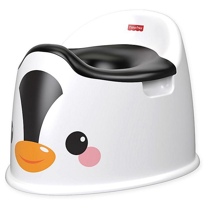 Alternate image 1 for Fisher-Price® Penguin Potty in White/Black