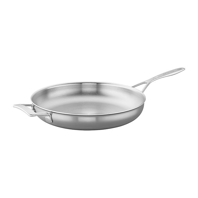 Alternate image 1 for Demeyere Industry 12.5-Inch Stainless Steel Fry Pan with Helper Handle