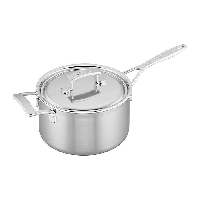 Alternate image 1 for Demeyere Industry Stainless Steel Covered Saucepan