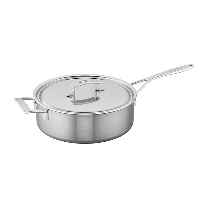 Alternate image 1 for Demeyere Industry Stainless Steel Covered Saute Pan