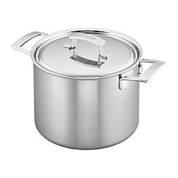 Demeyere Industry 8 qt. Stainless Steel Covered Stock Pot