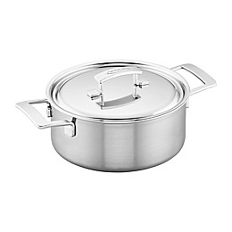 Demeyere Industry 5.5 qt. Stainless Steel Covered Dutch Oven