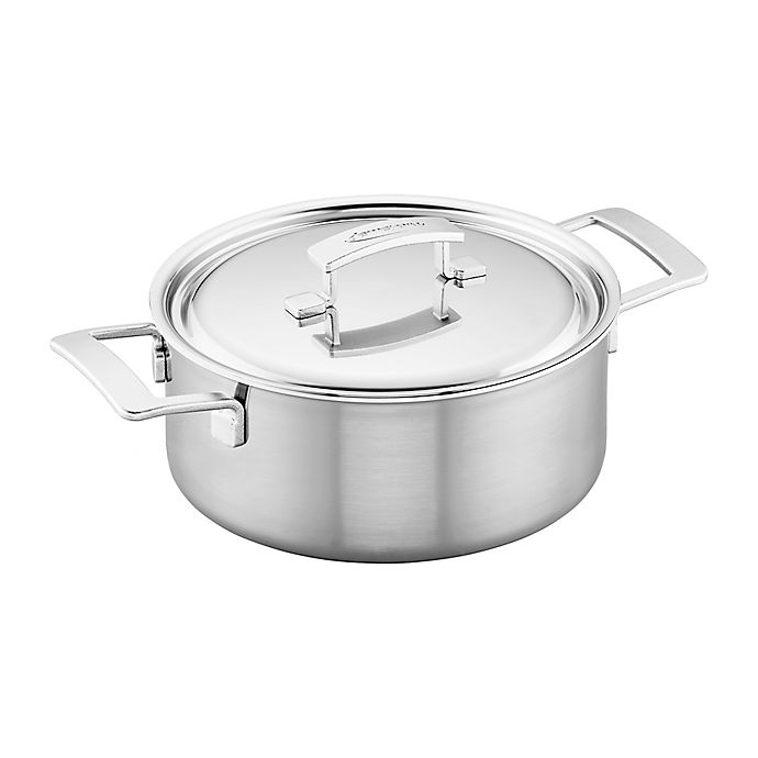 Alternate image 1 for Demeyere Industry 5.5 qt. Stainless Steel Covered Dutch Oven