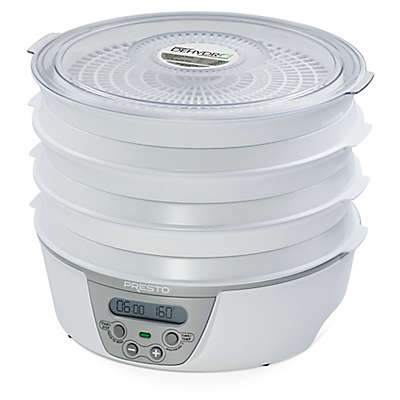 Presto® Dehydro™ Deluxe Electric Food Dehydrator with 6 Drying Trays in White