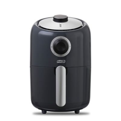 Dash Compact Air Fryer 1.2 L Electric Air Fryer Oven Cooker with Temperature Control Auto Shut off Feature Grey Non Stick Fry Basket Recipe Guide