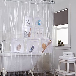 Stuffits Vinyl Shower Curtain with Mesh Pockets Collection