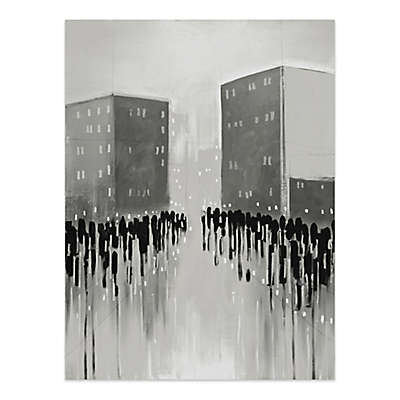 City Scape 36-Inch x 48-Inch Canvas Wall Art