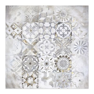 Mosaic 30 Inch Square Canvas Wall Art by Bed Bath And Beyond
