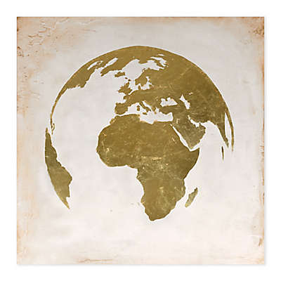 World Printed 40-Inch Square Canvas Wall Art