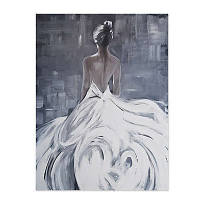 White Gown 36-Inch x 48-Inch Canvas Wall Art