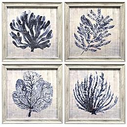 Prinz Ava Barrett Coral Framed Wall Art (Set of 4)