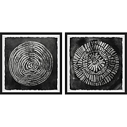 Marmont Hill Spiral Smudge Framed Diptych Wall Art
