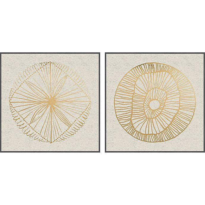 Alternate image 1 for Marmont Hill Weaved Floral II 48-Inch x 24-Inch Framed Diptych Wall Art (Set of 2)