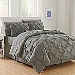 Hi-Loft Luxury Pintuck 8-Piece Full/Queen Comforter Set in Grey