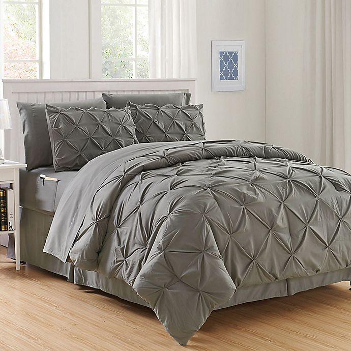 Hi Loft Luxury Pintuck 8 Piece Comforter Set Bed Bath Beyond