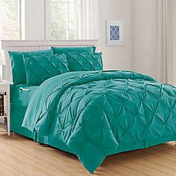 Hi-Loft Luxury Pintuck 6-Piece Twin/Twin XL Comforter Set in Turquoise