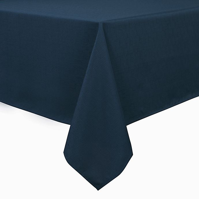 Alternate image 1 for Basics 70-Inch Square Tablecloth in Navy