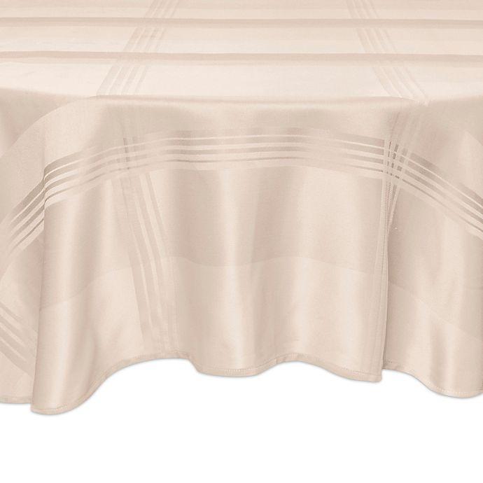 Alternate image 1 for Origins™ Ericson Plaid 70-Inch Round Tablecloth in Beige