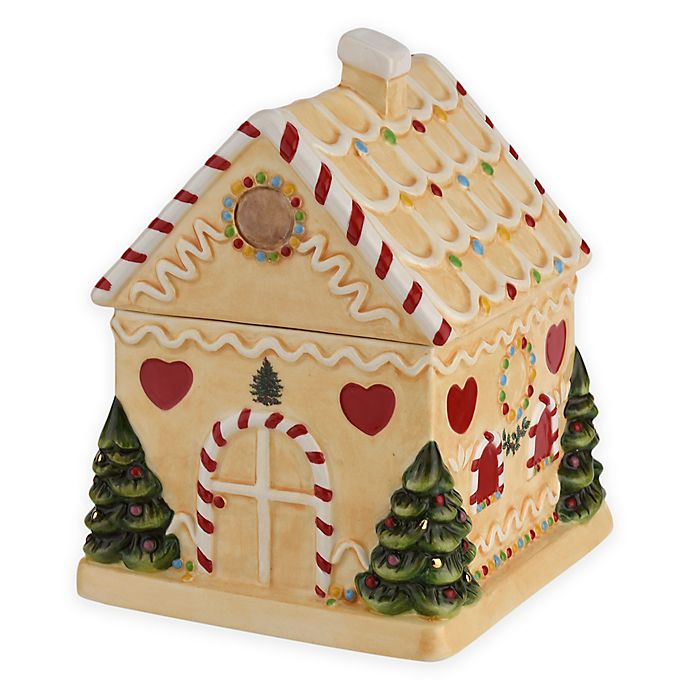 Alternate image 1 for Spode® Christmas Tree Gingerbread House Candy Jar