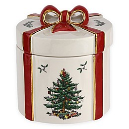 Spode® Christmas Tree 2-Piece Gift Box with Lid in White/Red