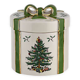 Spode® Christmas Tree Gift Box Decorations in White/Green (Set of 2)