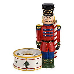 Spode® Christmas Tree Red Nutcracker Candle Holder