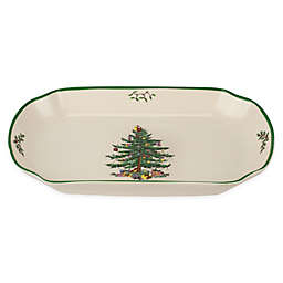 Spode® Christmas Tree 11-Inch Rectangular Scalloped Tray