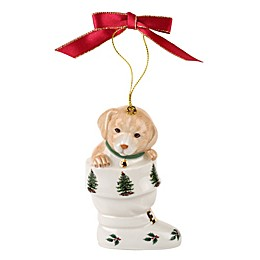Spode® Christmas Tree Puppy in Boot Ornament