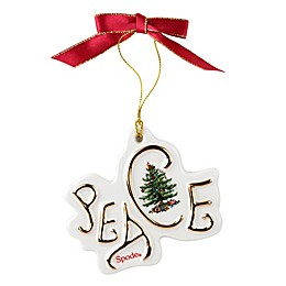 Spode® Christmas Tree Peace Disk Ornament