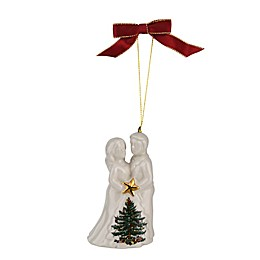 Spode® Christmas Tree Bride and Groom Ornament
