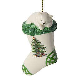 Spode® Christmas Tree Kitten in Stocking Ornament