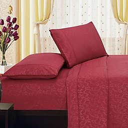 Elegant Comfort Floral Embossed Sheet Set