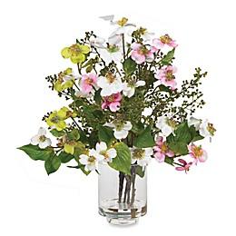 Nearly Natural 15-Inch Dogwood Silk Flower Arrangement