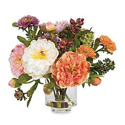 Nearly Natural Peony Silk Flower Arrangement