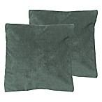 Decoplush Square Throw Pillows in Spa (Set of 2)