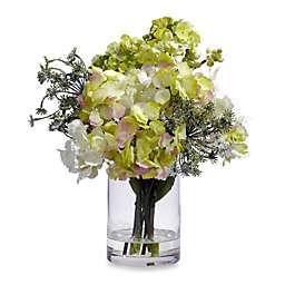 Nearly Natural 14-Inch Hydrangea Silk Flower Arrangement
