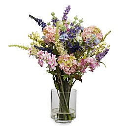 Nearly Natural 16-Inch Lavender & Hydrangea Silk Flower Arrangement
