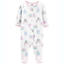 carter's® Critter Fleece Sleep 'N Play in Ivory