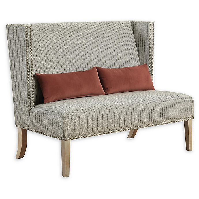 Alternate image 1 for Home Striped Accent Settee in Beige